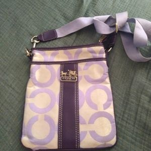 Coach canvas and leather shoulder bag